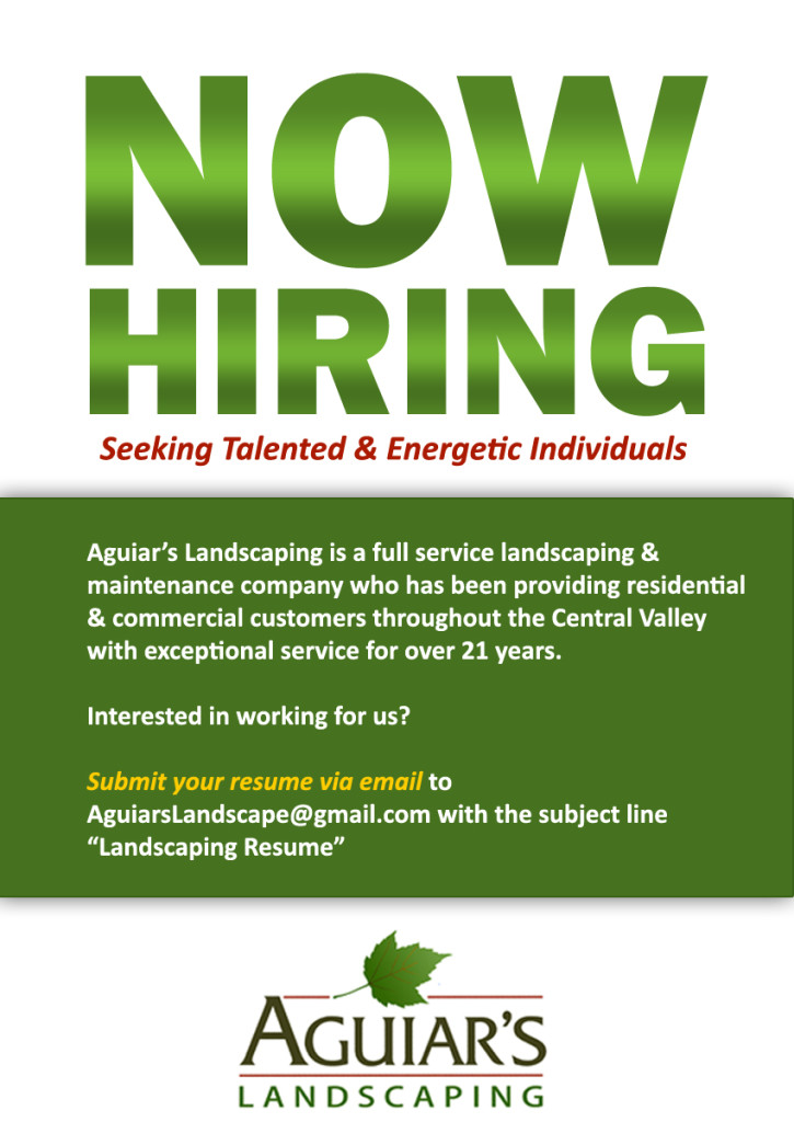 What Is A Clean Driving Record >> Job Openings | Aguiar's Landscaping